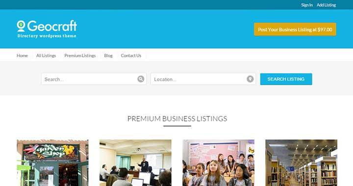 GeoCraft Business Directory WordPress Theme