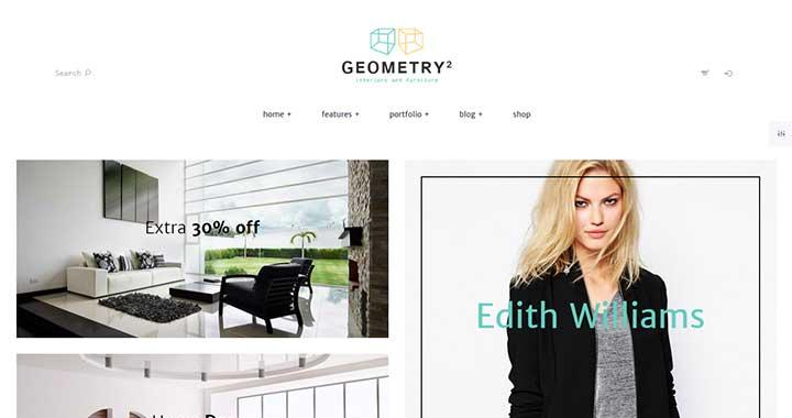 Geometry Free WordPress Portfolio Theme