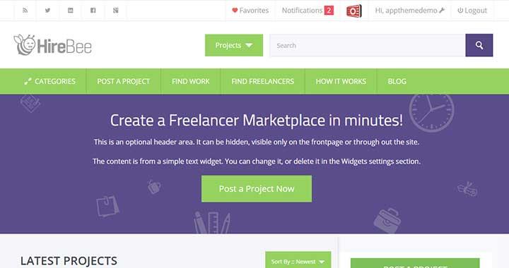 HireBee WordPress Theme