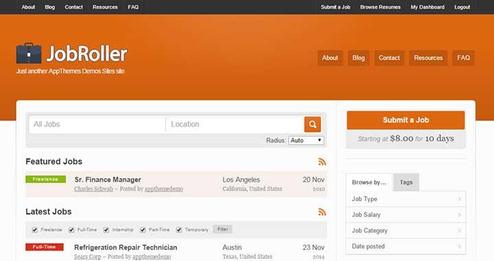 JobRoller WordPress Job Board Themes