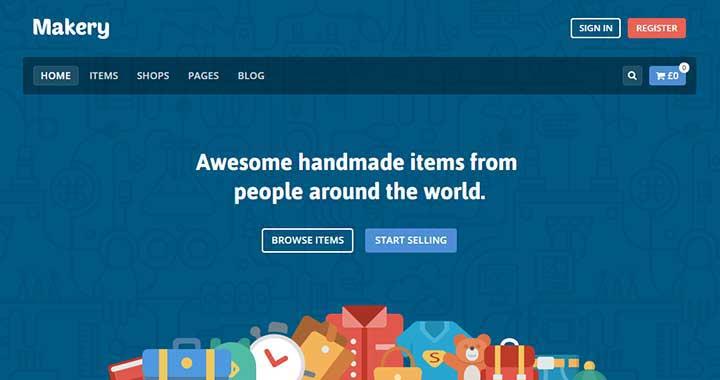 Makery Marketplace Theme WordPress