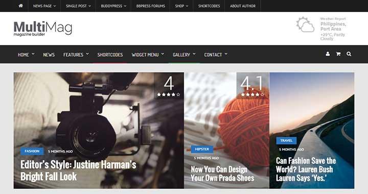 MultiMag WordPress Magazine Theme
