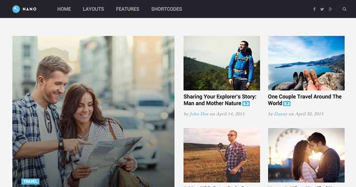 Nano WordPress Blog Themes