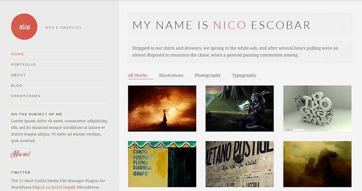 Nico Portfolio WordPress Theme