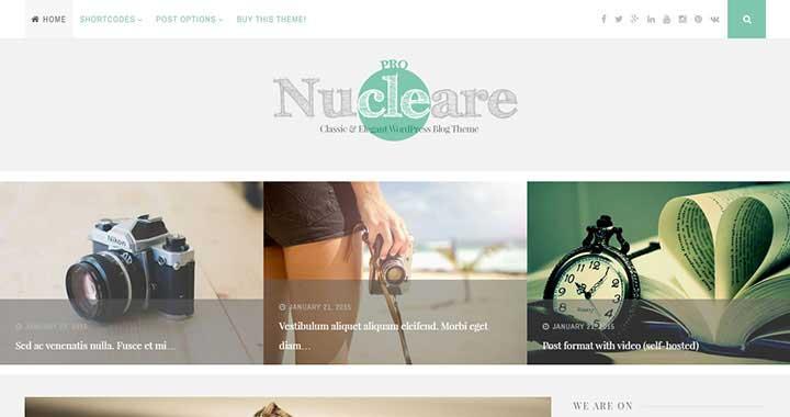 Nucleare WordPress Blog Theme