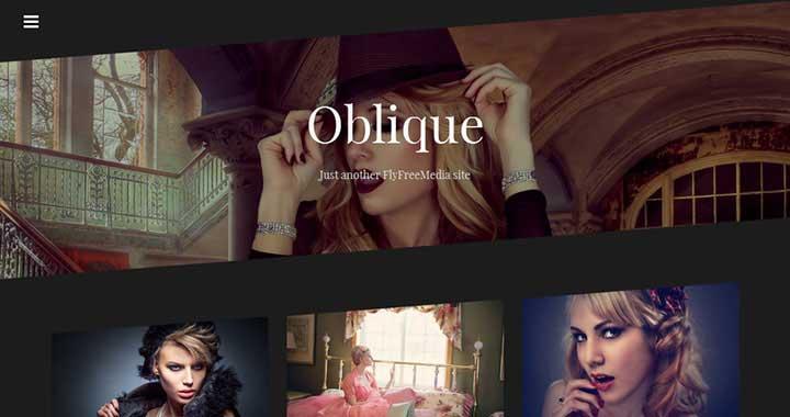 Oblique New WP Theme