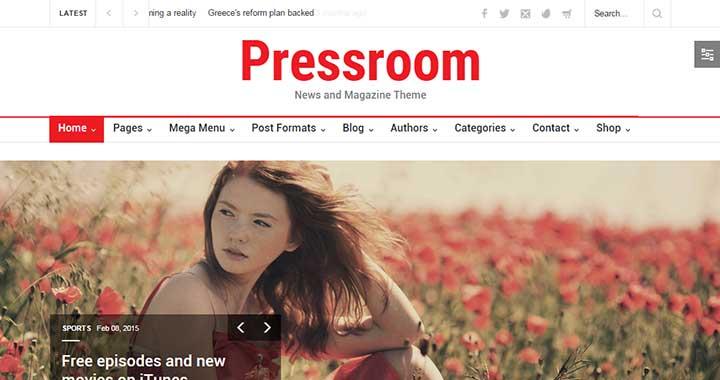 Pressroom Best WordPress Magazine Themes