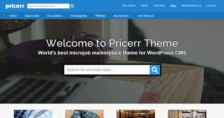 Pricerr WordPress Theme Marketplace