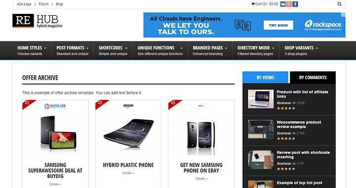 REHub Daily Deal WordPress Theme