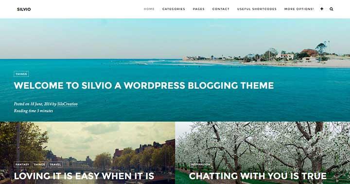 Silvio WordPress Theme Blog