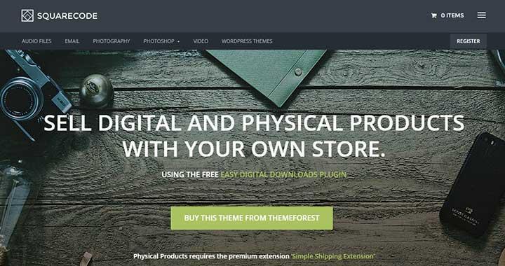 Squarecode Marketplace WordPress Theme