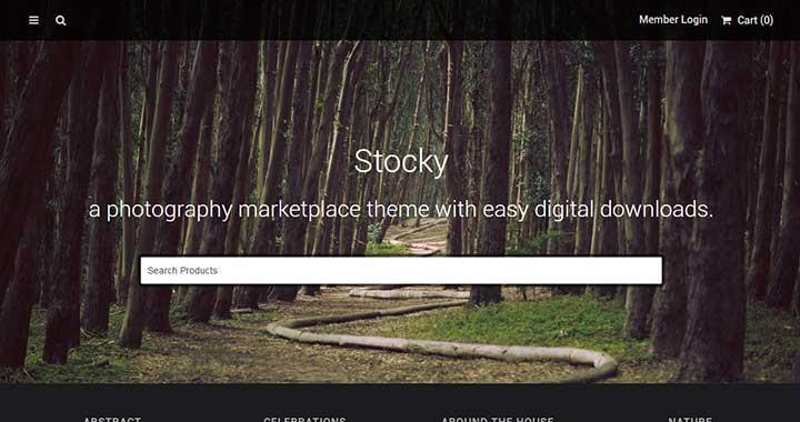 Stocky Image Marketplace Themes