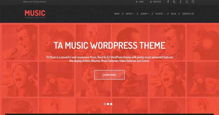 TA Music New WordPress Theme