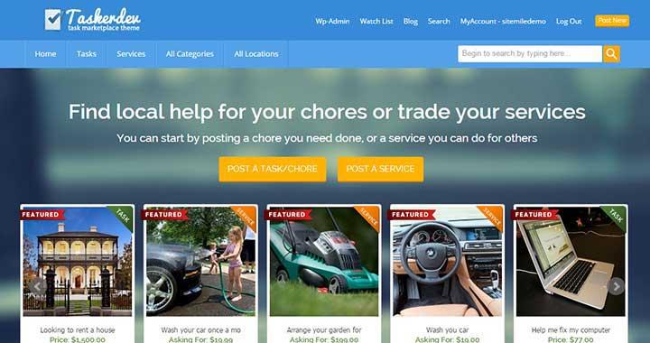 TaskerDev WordPress Marketplace Theme