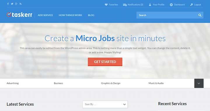 Taskerr WordPress Job board