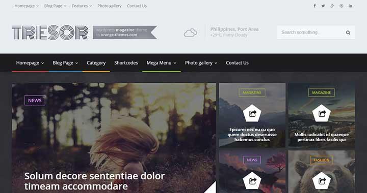 Tresor Magazine WordPress Theme