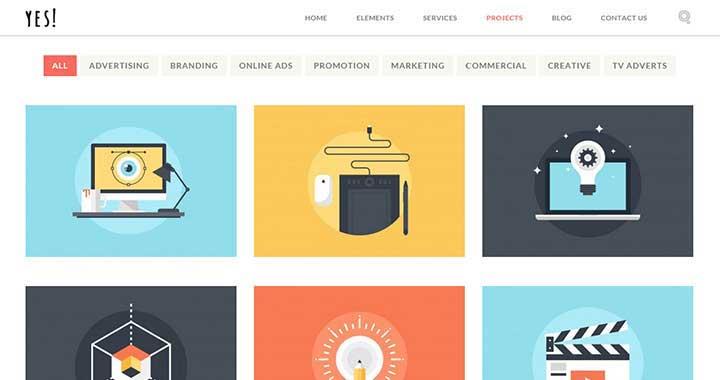 YES! WordPress portfolio Themes