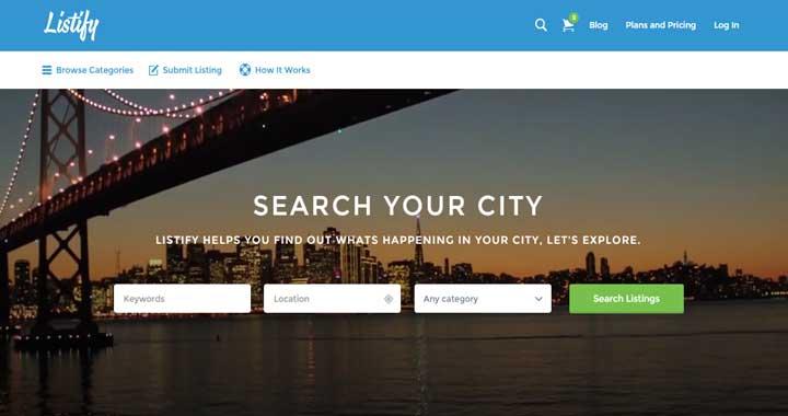 Listify Directory WordPress Theme