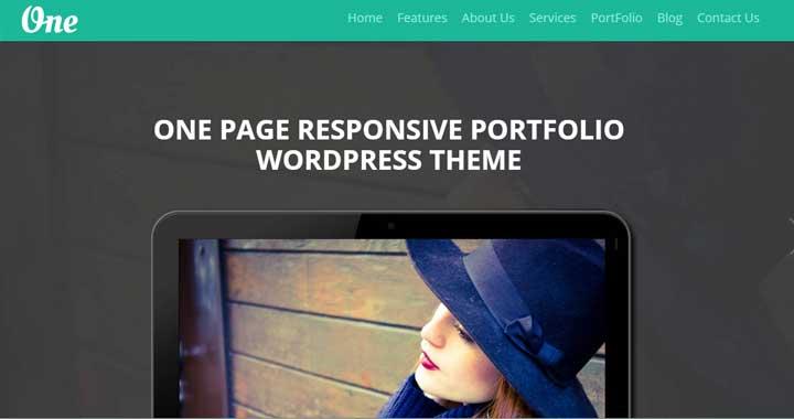 Onepage Best Portfolio WordPress Themes