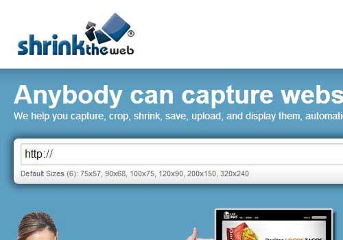Shrinktheweb Online Screenshot Generator