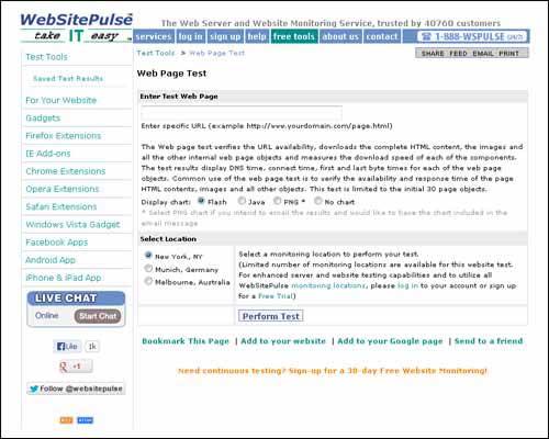 Website Speed Test Tools