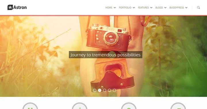 Astron BuddyPress WordPress Theme