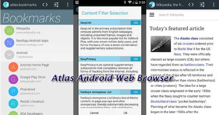 Atlas Best Browsers 2015