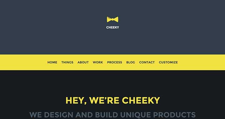 Cheeky WordPress Black Theme