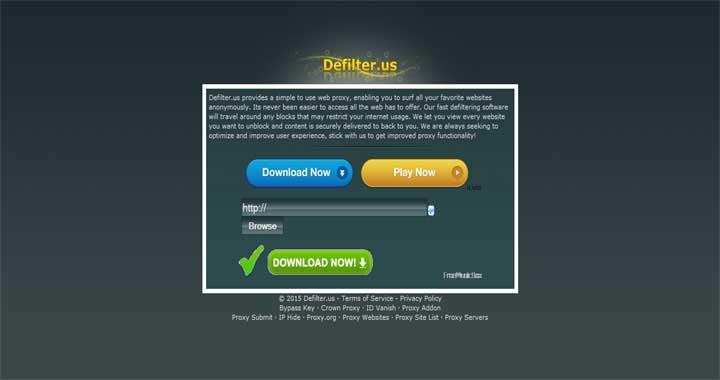 Defilter proxy sites list