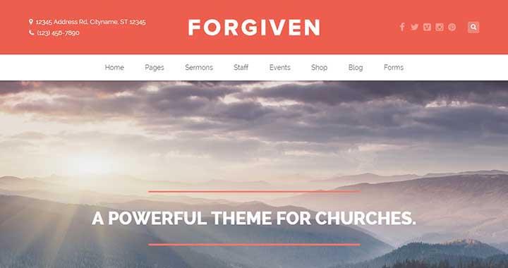 Forgiven Church WordPress Theme
