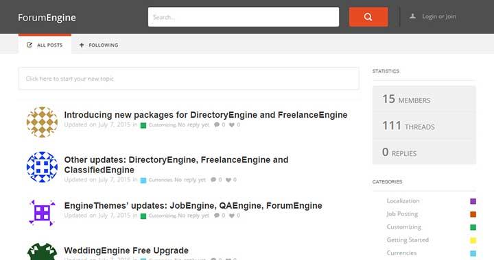 ForumEngine WordPress Forum Software