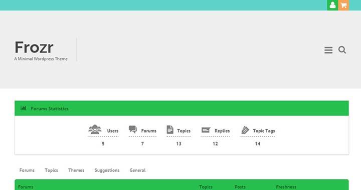 Frozr Forum WordPress Themes