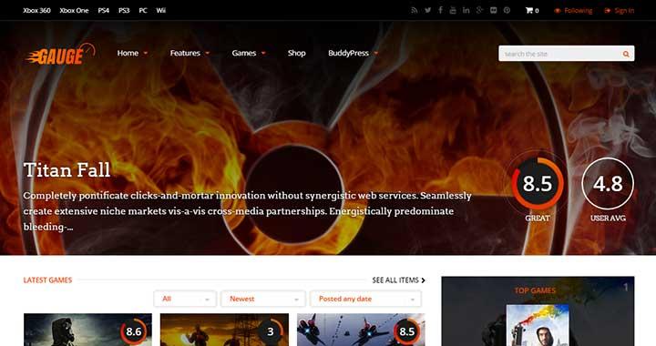 Gauge WordPress BuddyPress Themes