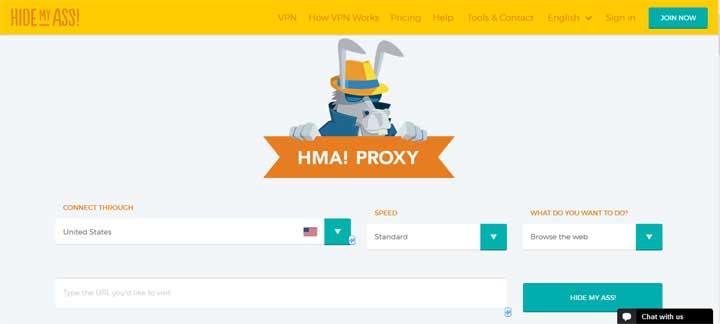 HideMyAss! list of proxy servers