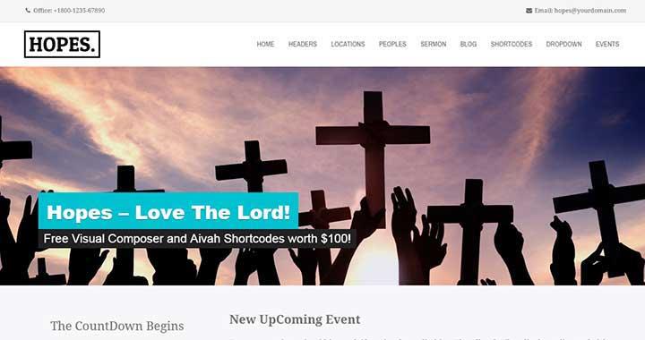 Hopes Church WordPress Themes Free