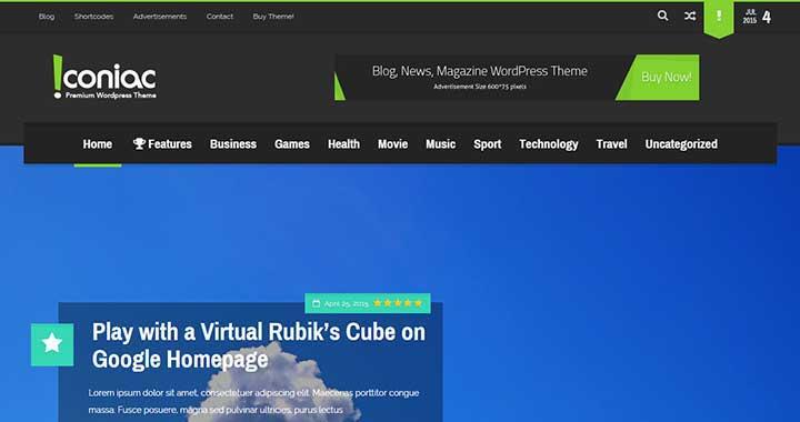 Iconiac WordPress Themes Arabic