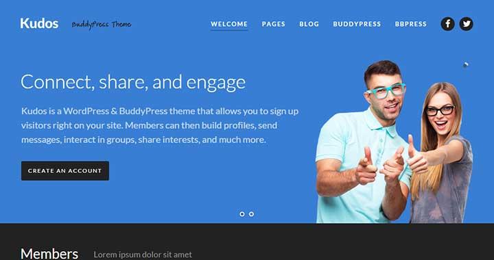 Kudos Community WordPress Theme