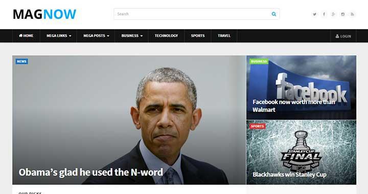 MagNow WordPress Arabic Themes