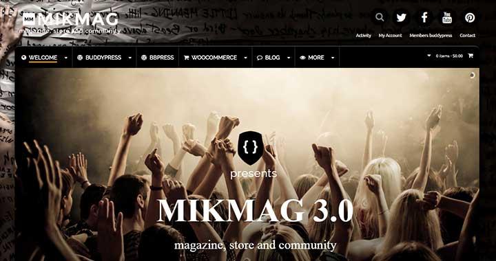 Mikmag Community WordPress Theme