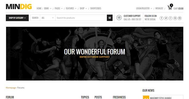 Mindig Forum WordPress Themes