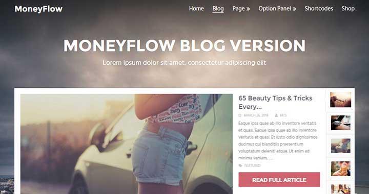 MoneyFlow Best Rtl WordPress Themes