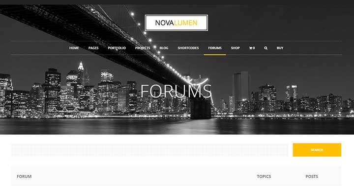 Novalumen WordPress Community Theme