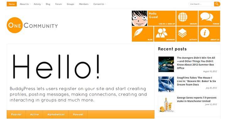OneCommunity WordPress Community Theme