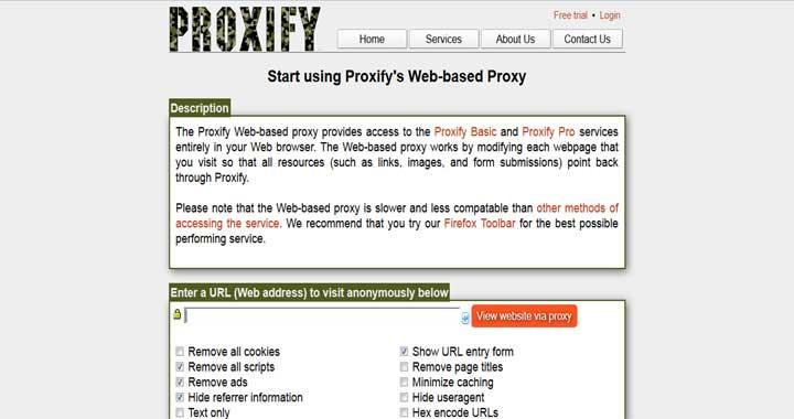 Proxify proxy servers list