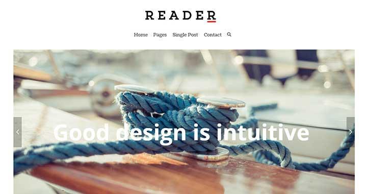 READER WordPress Themes Arabic