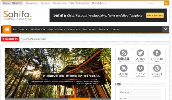 Sahifa Responsive WordPress News Theme