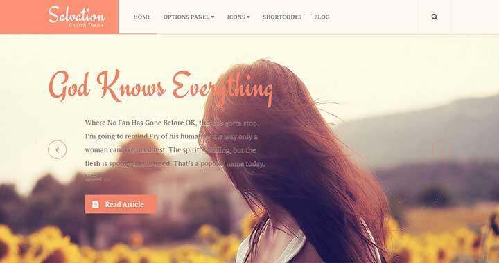 Salvation Spiritual WordPress Themes