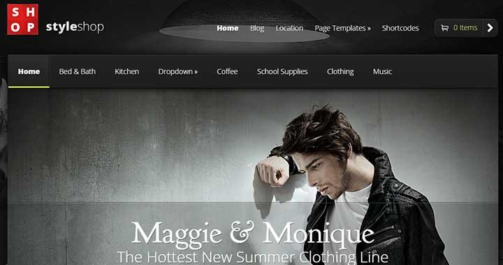 StyleShop WordPress Dark Themes