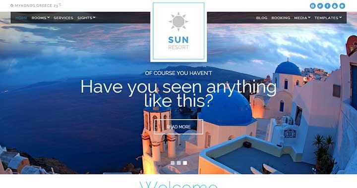 Sun Resort New WordPress Theme July 2015