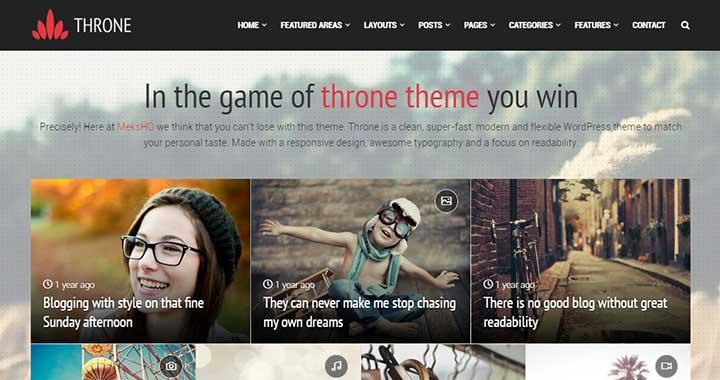 Throne Arabic WordPress Theme
